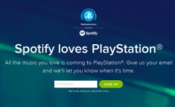 Spotify on PS4 annoucement screenshot