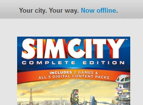 Single-player offline mode - now a selling point.