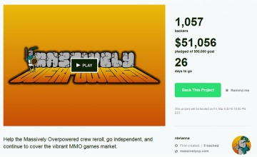 Massively goes to Kickstarter featured