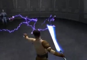 Whoaaa, lightning is not a blue-saber thing! Bad Kyle!