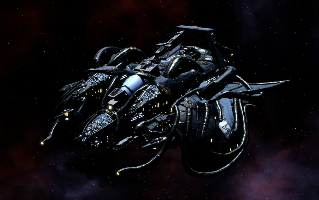 It fires black holes like bullets, missiles made of antimatter, laser beams powered by elements that shouldn't exist, and still has room for 6 fighters and 2 interceptor drones.