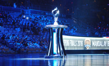 NA LCS Finals trophy